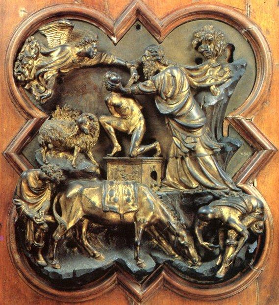 Filippo Brunelleschi, Il Sacrificio di Isacco, 1401. Firenze, Museo Nazionale del Bargello