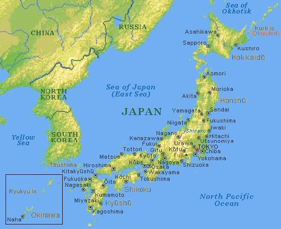 Cartina Economica Giappone.Carta Fisica Giappone Pearltrees
