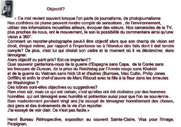 Henri Bureau texte d Objectif