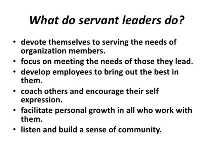 servant leadership style essay
