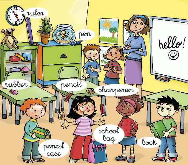 Imagenes que ilustran los diferentes objetos del sal n de for 10 objetos en ingles del salon de clases