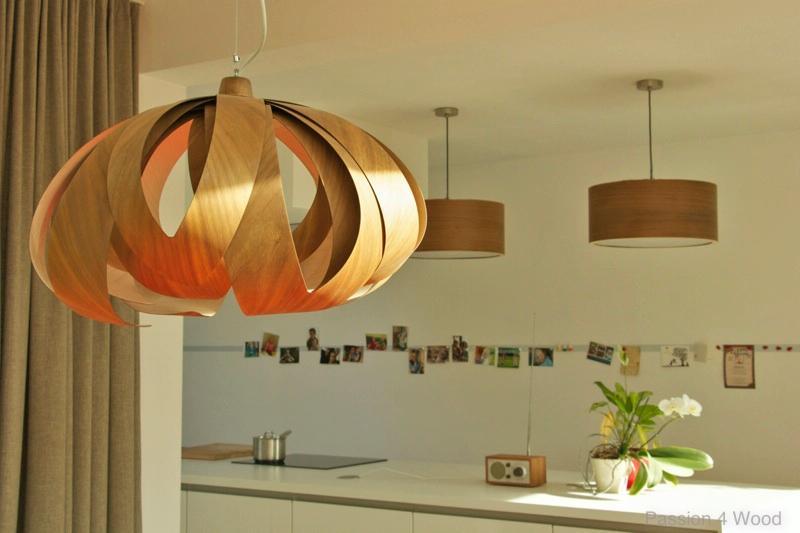 Design Keuken Hanglamp : Interieur keuken drum lampen en tulp lamp in walnoot hout boven