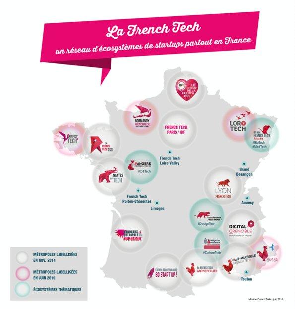 La carte de la French Tech