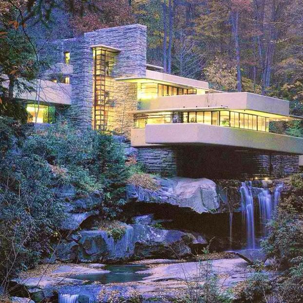 La maison sur la cascade lfw pearltrees - La maison sur la cascade de frank lloyd wright ...
