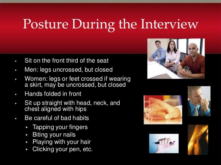 Posture During The Interview Pearltrees