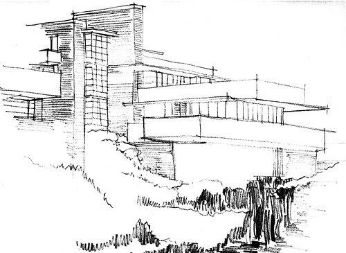 Studio masson le drean marie la maison de la cascade frank - La maison sur la cascade frank lloyd wright ...