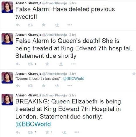 tweet queen démenti