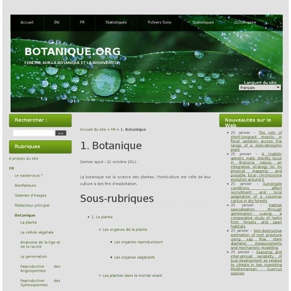 1. Botanique
