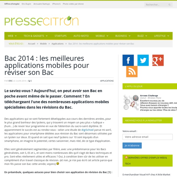 10 applications pour réviser son Bac