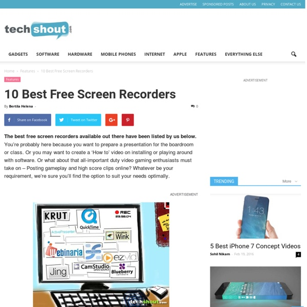 10 Best Free Screen Recorders