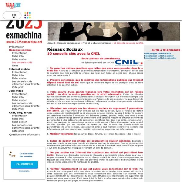 10 conseils clés avec la CNIL