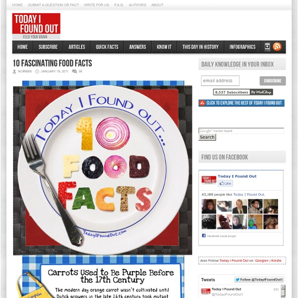 10 Fascinating Food Facts