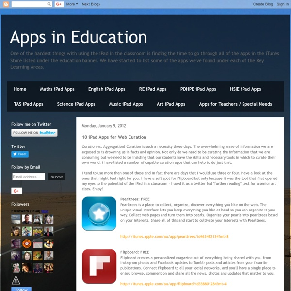 10 iPad Apps for Web Curation