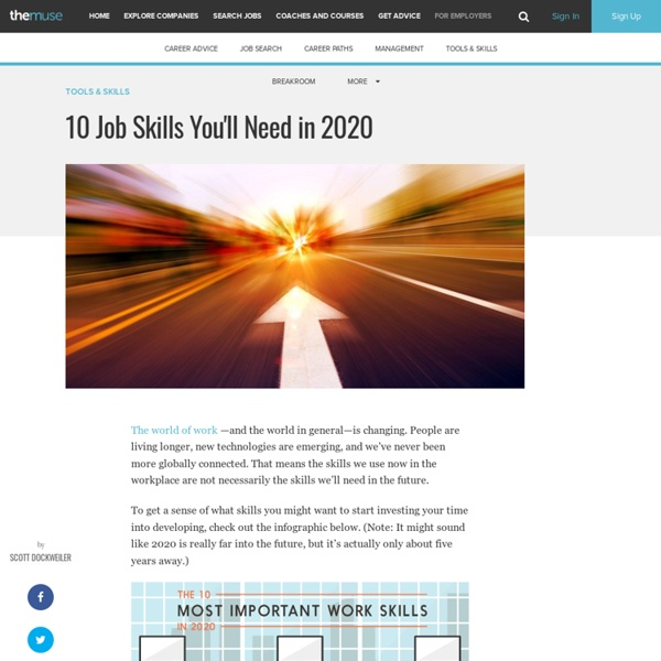 10 Job Skills You'll Need in 2020
