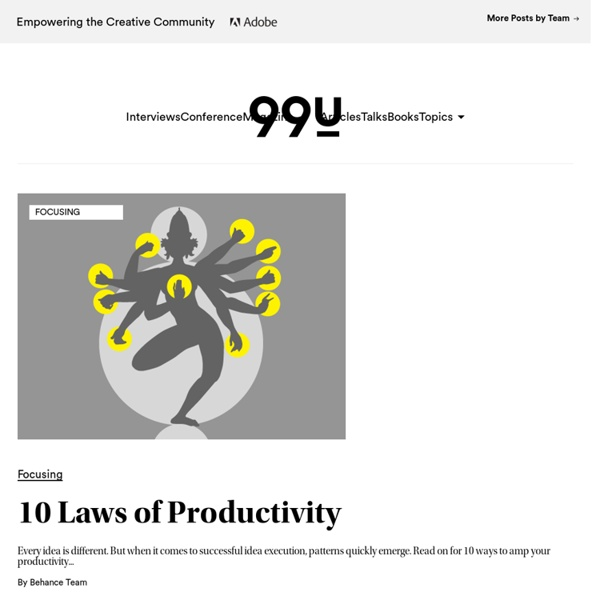 10 Laws of Productivity