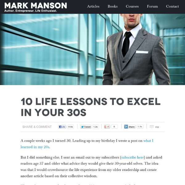 10 Life Lessons to Excel In Your 30s
