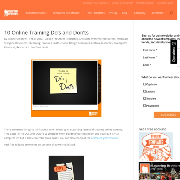 10 Online Training Do's and Don'ts