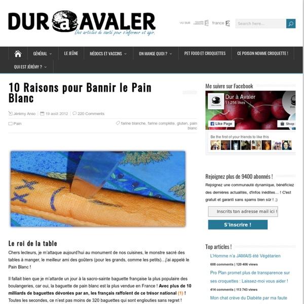 10 Raisons pour Bannir le Pain Blanc