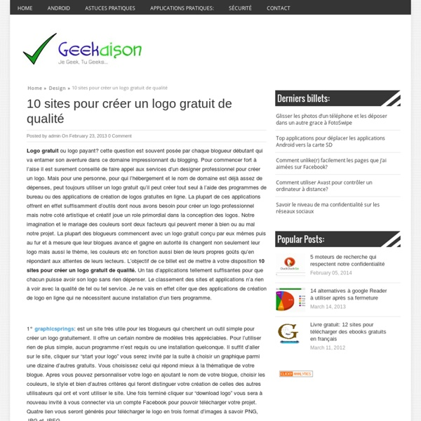 10 sites pour créer un logo gratuit de qualité
