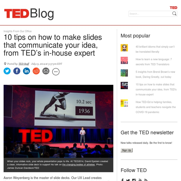 10 tips for better slide decks
