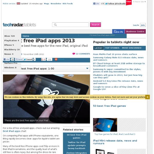 Top 60 best free iPad apps 2012