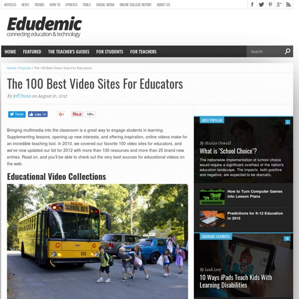 100 Best Video Sites For Educators