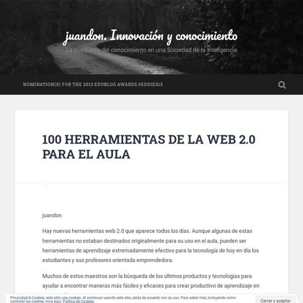 100 HERRAMIENTAS DE LA WEB 2.0 PARA EL AULA