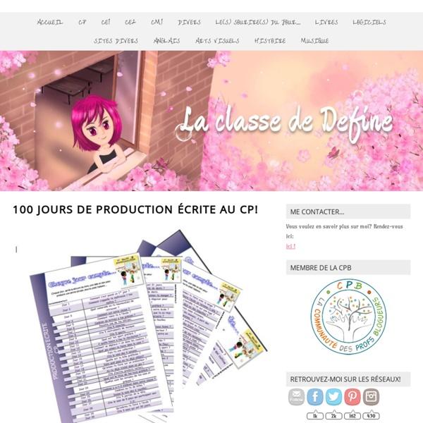 100 jours de production écrite au CP! -