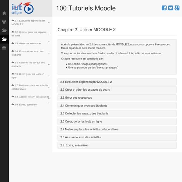 100 tutoriels vidéos pour Moodle