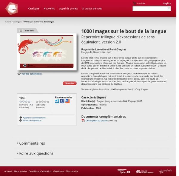 1000 images sur le bout de la langue