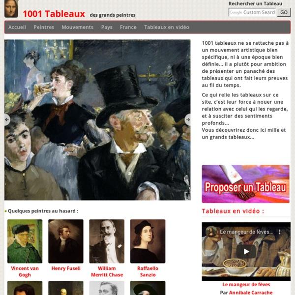 1001 Tableaux - des grands peintres