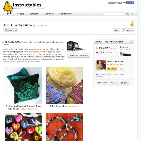 101 Crafty Gifts: Free PDF