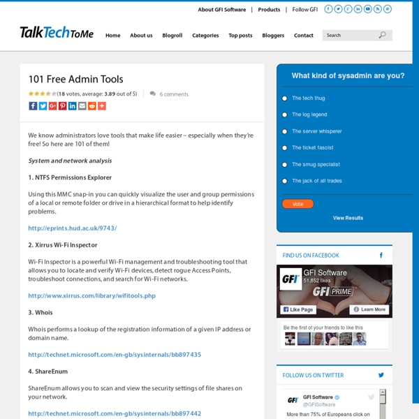 101 Free Admin Tools | Pearltrees