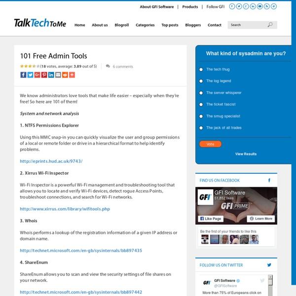 101 Free Admin Tools