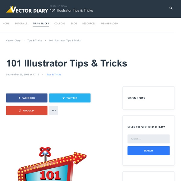 101 Illustrator Tips & Tricks