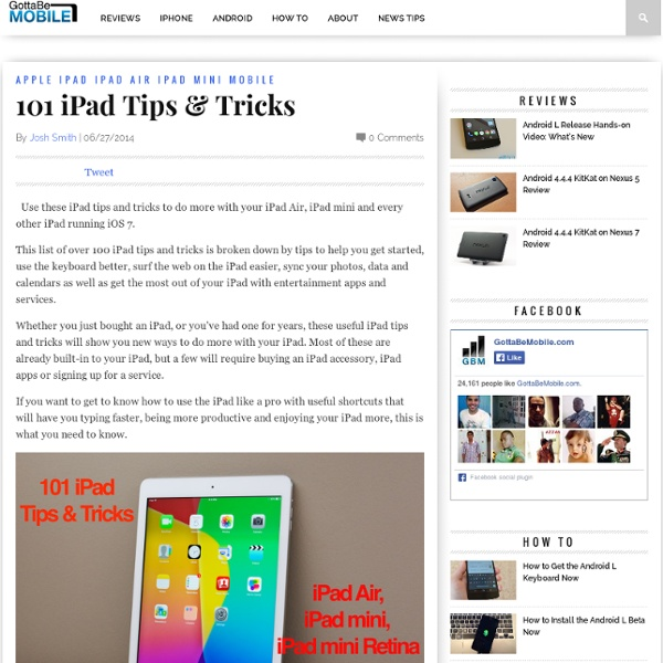 101 iPad Tips & Tricks