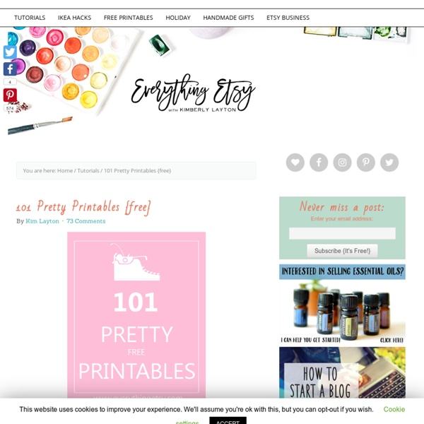 101 Pretty Printables {free