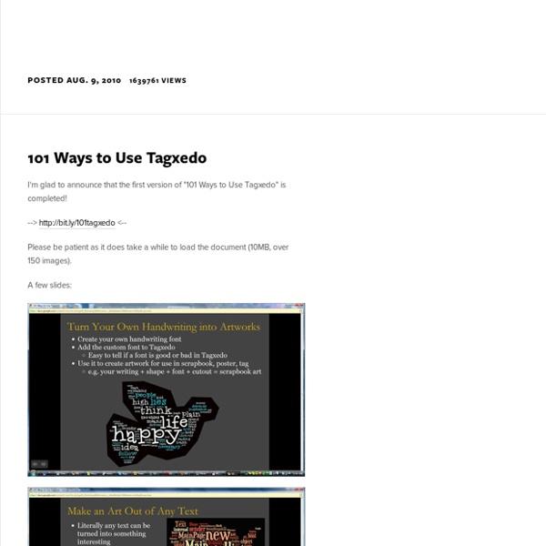 101 Ways to Use Tagxedo - All Things Tagxedo