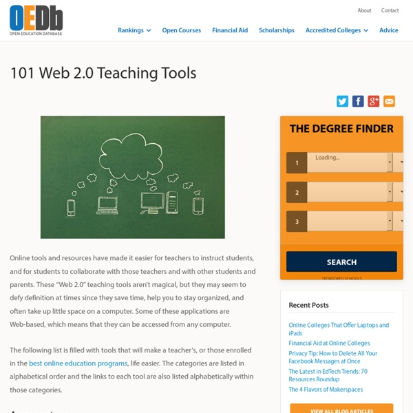 101 Web 2.0 Teaching Tools