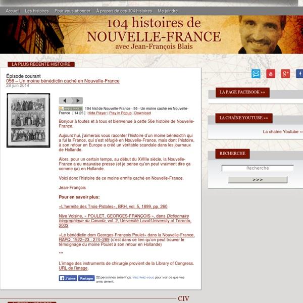 La Nouvelle-France racontée : 104 histoires de Nouvelle-France a