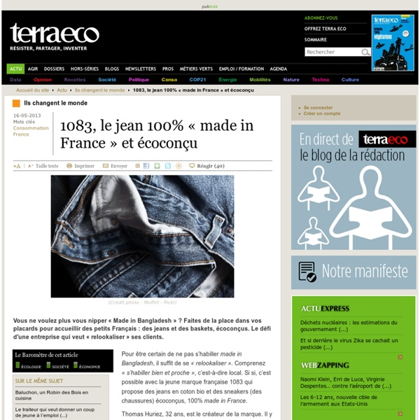 1083, le jean 100% « made in France » et écoconçu
