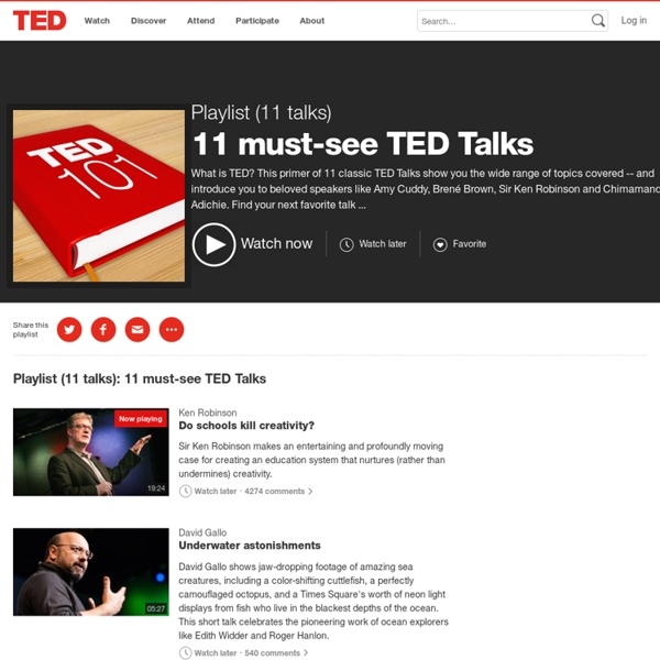 11 must-see TED Talks