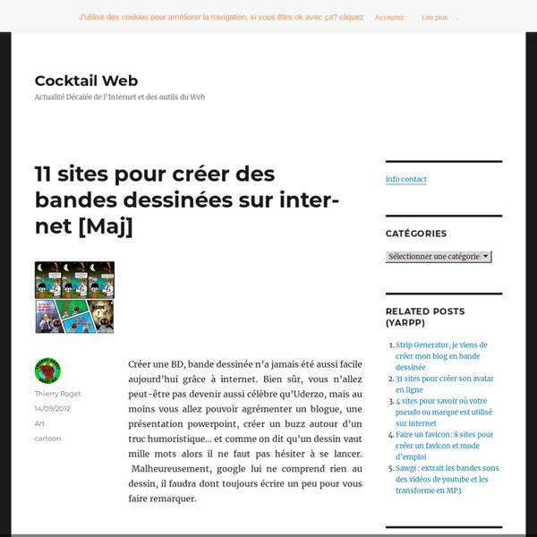 11 sites pour créer des BD en ligne