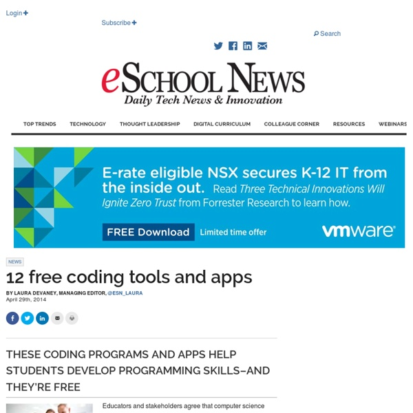12 free coding tools and apps