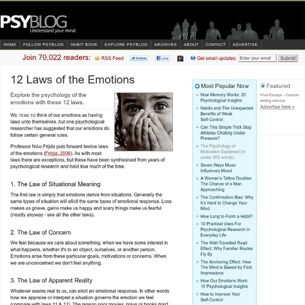 12 Laws of the Emotions