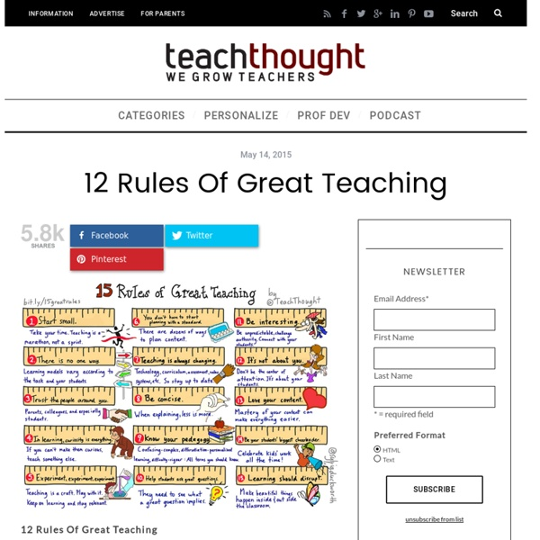 12 Rules Of Great Teaching -