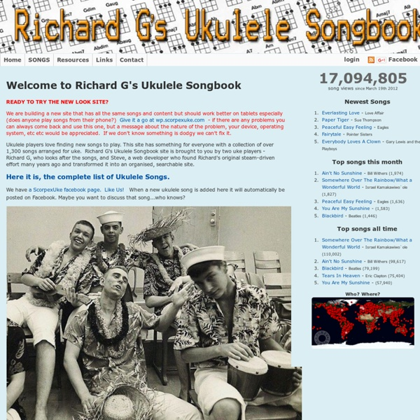 Ukulele Songs by Richard G | Pearltrees
