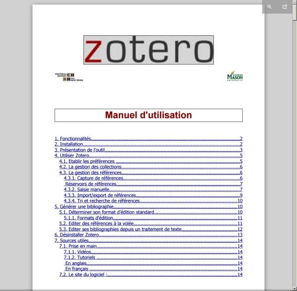 Tutoriel Zotero