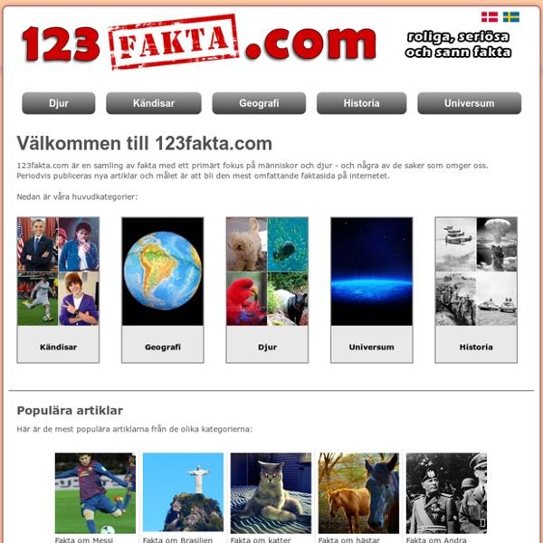 123fakta.com - Fakta om allt mellan himmel och jord