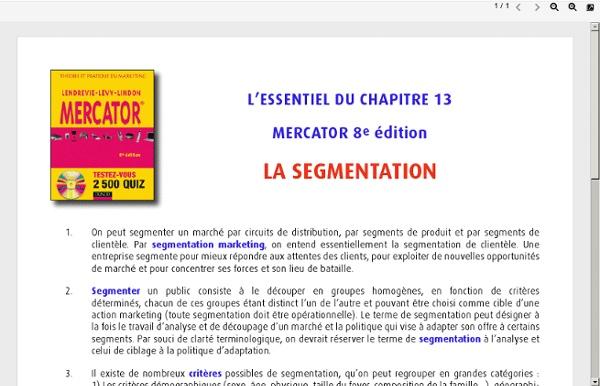 013. La segmentation